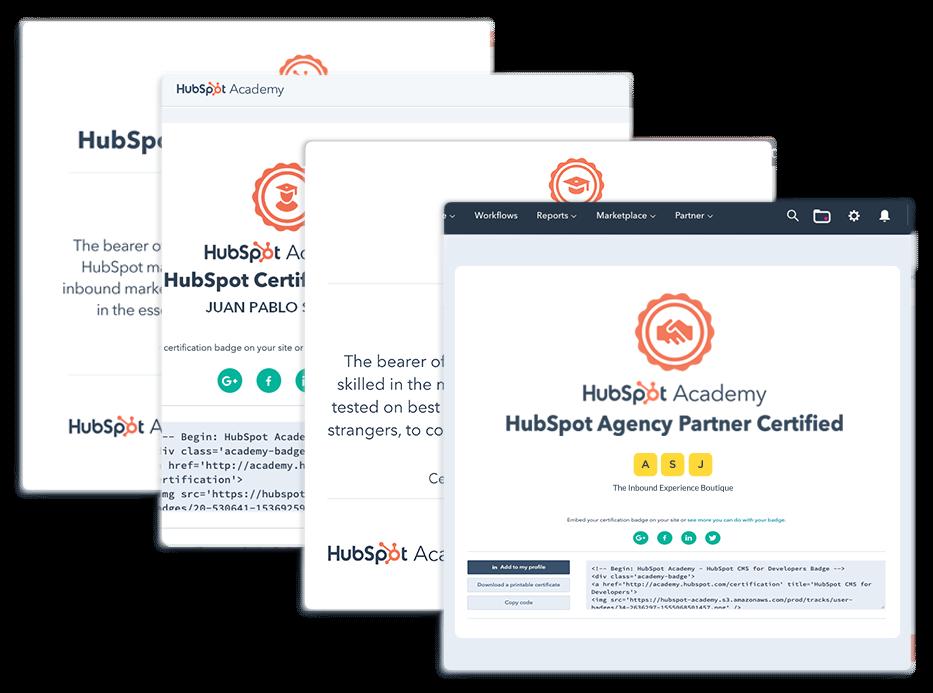 Tu equipo certificado en HubSpot CMS  developers, Software, Sales, Formación y mucho más